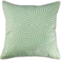 "Millianess Farmhouse Style Pillow Cover Embroidered Simple Style Throw Pillow for Couch Bedroom Car Home Decorative 18""x 18""(Green)"