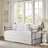 Madison Park Tuscany 3 Piece Coverlet Set, Full/Queen, White