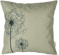 "Luxbon Set of 2Pcs Farmhouse Decor Dandelion Cotton Linen Throw Pillow Cases Sofa Couch Chair Decorative Cushion Covers 18""x18"" / 45x45cm Insert Not Included"