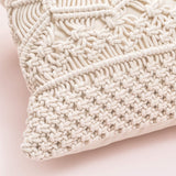 Mkono Throw Pillow Cover Macrame Cushion Case (Pillow Inserts Not Included) Set of 2 Decorative Pillowcase for Bed Sofa Couch Bench Car Boho Home Decor,17 Inches