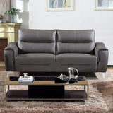 Christies Home Living Rachel Collection Modern Leather & Fabric Upholstered Stationary, SOFA