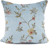 YOUR SMILE Classical Embroidery Jacquard Farmhouse Oblong Rectangle Chenille Teal Leaf Decorative Throw Pillow Case,12x20 inch