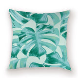Farmhouse Cactus Cushion Cover Monstera Tropical Throw Pillow Covers Pink Pillows Cases Plant Leaves Covers Cushions Kissen Case