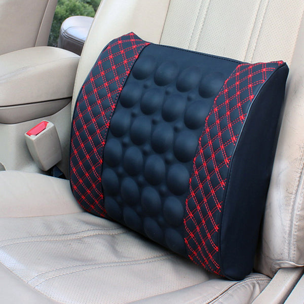 Car Electric Massage Back Cushion Soft Relief Vertebral Pain Lumbar Cushion Waist Support Massage Seat Pillow Home Office Chair