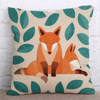 Christmas Tree Decorations 45cmX45cm Cartoon Fox Pattern Sofa Car Pillowcase Christmas Pillow Cover Farmhouse Home Decor