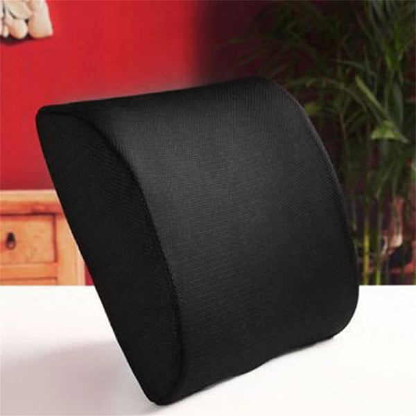 Comfortable Memory Foam Waist Pillow Slow Rebound Lumbar Pillow Cushion Office Relieve Pressure Car Waist Cushion Black