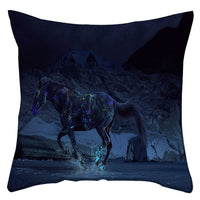 Boniu 45cm Cushion Cover Horse Pattern Pillowcase For Chairs Farmhouse Home Decorative Sofa Throw Pillow Covers