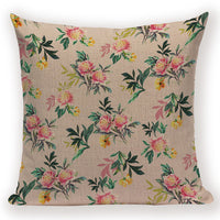 Farmhouse Home Decor Cushion Covers Leaf Flower Pillows Case Colorful Sofa Decorative Pillow Cover 45 X 45 Cm Print Kissen Cases