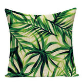 Monstera Palm Leaf Banana Leaves Cushion Cover Farmhouse Garden Linen custom Pillow Cover Bedroom Sofa Home Decor Pillowcase