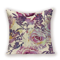 Farmhouse Decor Throw Pillows Case Plant Flower Shabby Chic Cushion Cover Spring Colorful Living Room Pillow Cushions Covers