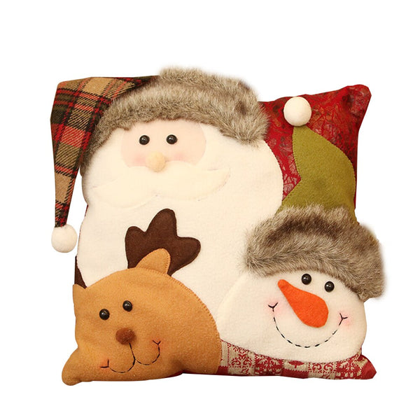 Christmas Throw Pillow Cushion Cotton Polyester Christmas children's gift for Farmhouse Home Coffee shop Library Party Decor