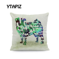 Alphabet Color Dog Pillow Covers Green Red Blue Orange Combination Dog Decoration Farmhouse Sofa Cushion Covers 45*45 Velvet