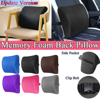 Soft Memory Cotton Car Seat Winter Pillows Lumbar Support Back Massager Mesh Waist Cushion For Chairs Home Office Relieve Pain