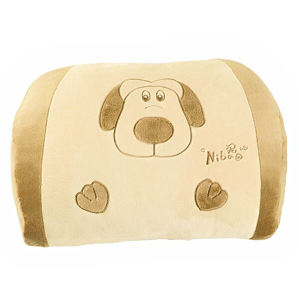 Doggie Style Car Lumbar Cushion Waist Cushion Travel Pillow (Khaki)