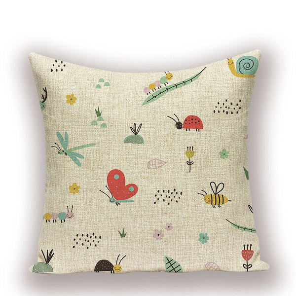 Animal Insect Spring Pillow Covers Multicolor Farmhouse Home Cushion Covers For Sofa Bee Cushions For Living Room Bed Decor