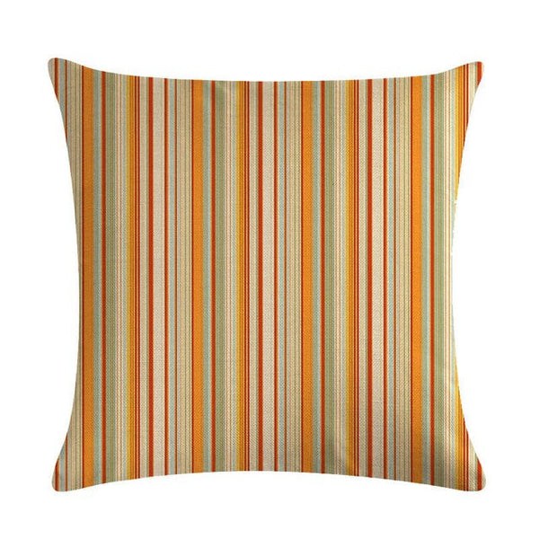Stripe Line Cushion Covers Colorful Geometry Pillow Farmhouse Style Floor For Living Room Dakimakura Home Office Bedroom ZY1335