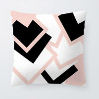 Simple Personalized Decoration Pillowcase White Arrow Line Diamond Cushion Cover Home Sofa 45 * 45Cm Super Soft Square Pillow