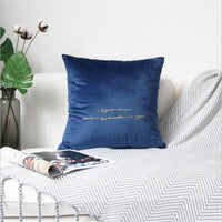 AOVOLL  Christmas Pillow Covers Decorative Nordic Embroidered Velvet Pillow Case  Farmhouse Home Decor Square 45cmX45cm