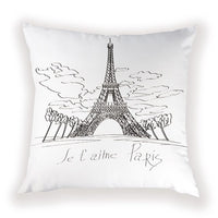 Farmhouse London Cushion Cases Landscape Tower Home Decorative Pillow Covers Vintage Bed White Cushions Cover Plant Pillow Case