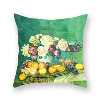 Oil Painting throw pillow covers Flower Series both sided Polyester Cushion Cover Farmhouse Sofa Study Decoration Pattern Still