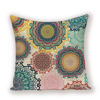 Flower Floral Pillow Case Vintage Decorative Cushion Cover Boho Throw Pillows Cases Farmhouse Home Sofa Decor Cushions Covers