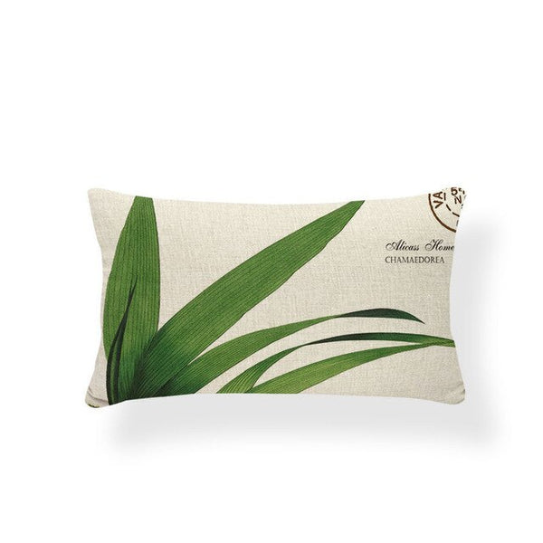 Plant Cushion Cover Holiday Cover Pillow Leaves Farmhouse Presents Dakimakura Stamp Rectangle Cotton Blend Sublimation Material