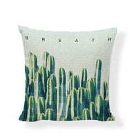 Stylish Green Plant Cushion Covers Cactus Spring Tree Of Life Pillowcases Linen Cotton Home Decor Farmhouse Gifts Pillow Covers