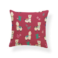 Animal Alpaca Cactus Cushion Flower Love Star Pillowcase Pink French Country Farmhouse Houseware Pillow With Cover 45X45Cm Linen