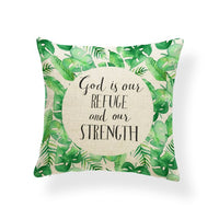 Plant Leaves Cushion Covers Ocean Beach Stone Pillow Case  Farmhouse Style Meditation Homeware Palmier Dakimakura 17.7Inch Linen
