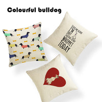 Soft Pillow Covers Farmhouse Greyhound Purple Green Geometric Collar Throw Pillows Sofa 43-43Cm Polyester Decoration Pillowcases