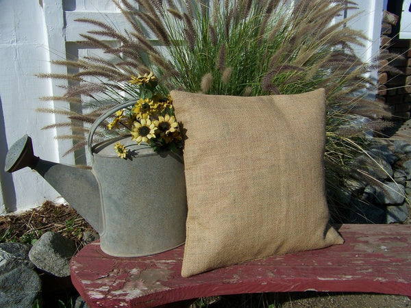 1 Burlap Pillow 26x26 Throw Decorative French Country Farmhouse covers