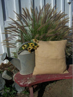 1 Burlap Pillow 10x10 Throw Decorative French Country Farmhouse covers