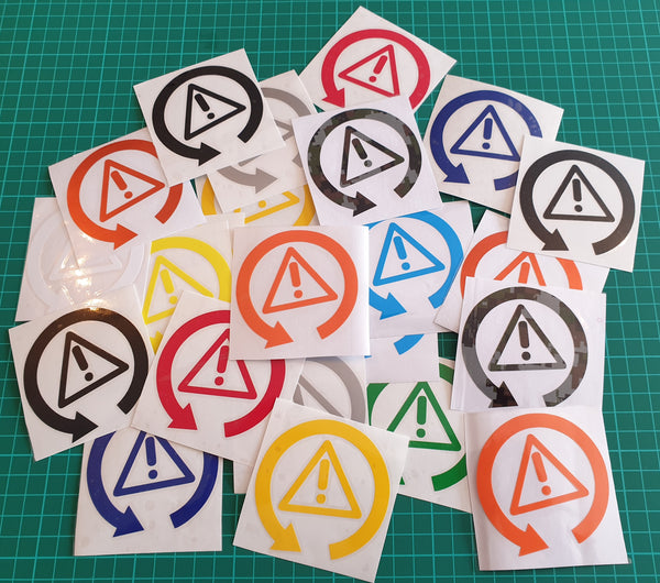 MT round logo stickers