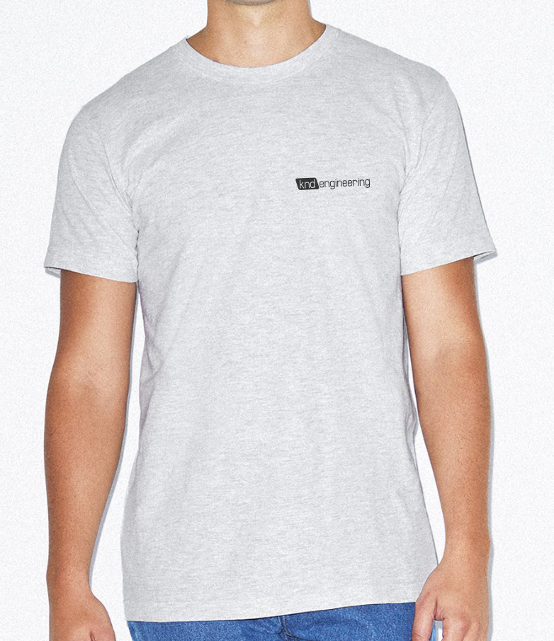 Short sleeve T in ash grey