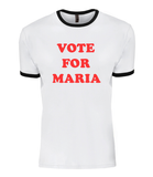 MT 'Vote for Maria' contrast Tee
