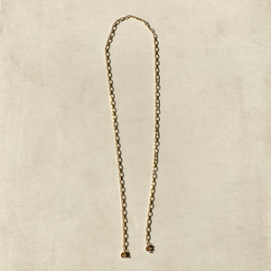 18K Gold Paperclip Face Mask Chain