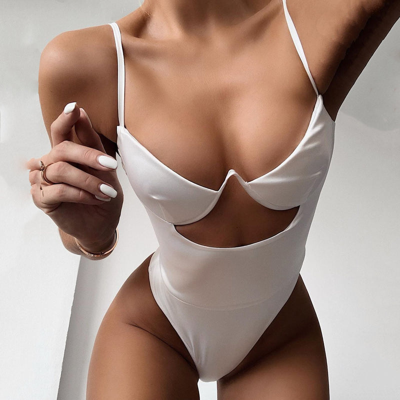 Underwire V Thong One Piece