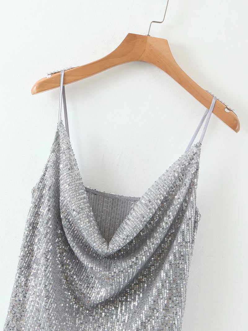 Strappy Sequin Top
