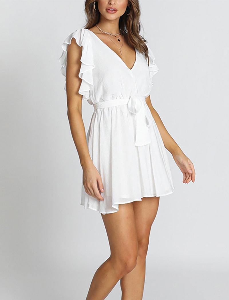 Mini White Lily Dress