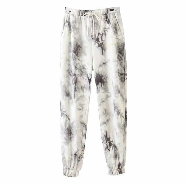 High Waist Marble Sweatpant