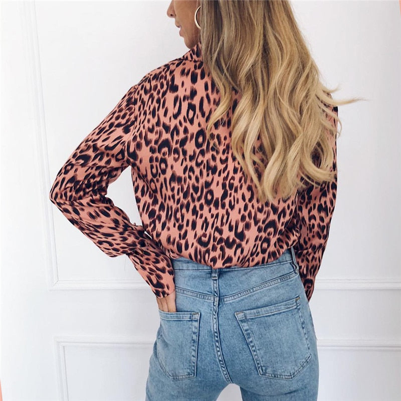 Autumn Leopard Blouse