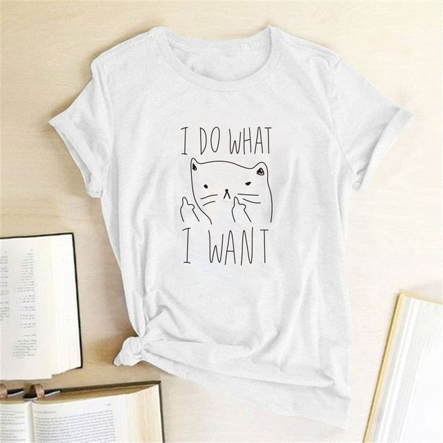 I Do What I Want Cat Tee