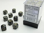 Chessex Lustrous Black/Gold 36d6