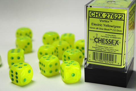 Chessex Vortex Electric Yellow/Green 12d6