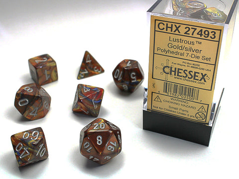 Chessex Lustrous Gold/Silver 7pc