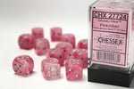 Chessex Pink/Silver Ghostly 12d6