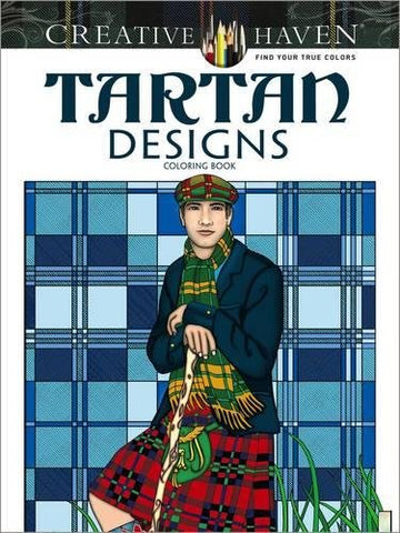 Creative Haven Noble Tartan Designs Coloring Book