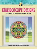 Creative Haven Kaleidoscope Designs Stained Glass Coloring Book