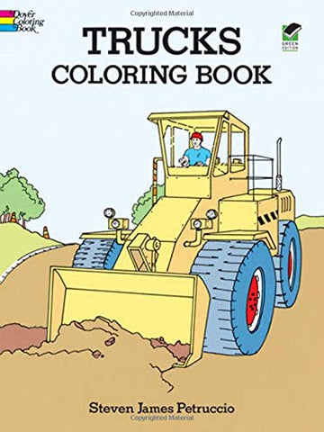 Dover Petruccio Trucks Coloring Book