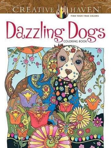 Creative Haven Sarnat Dazzling Dogs Coloring Book